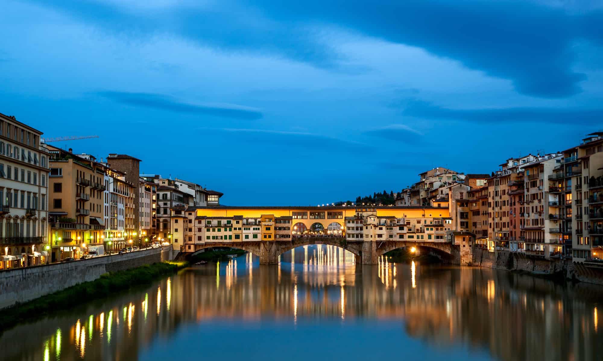 Broen Ponte Vecchio Firenze Italien