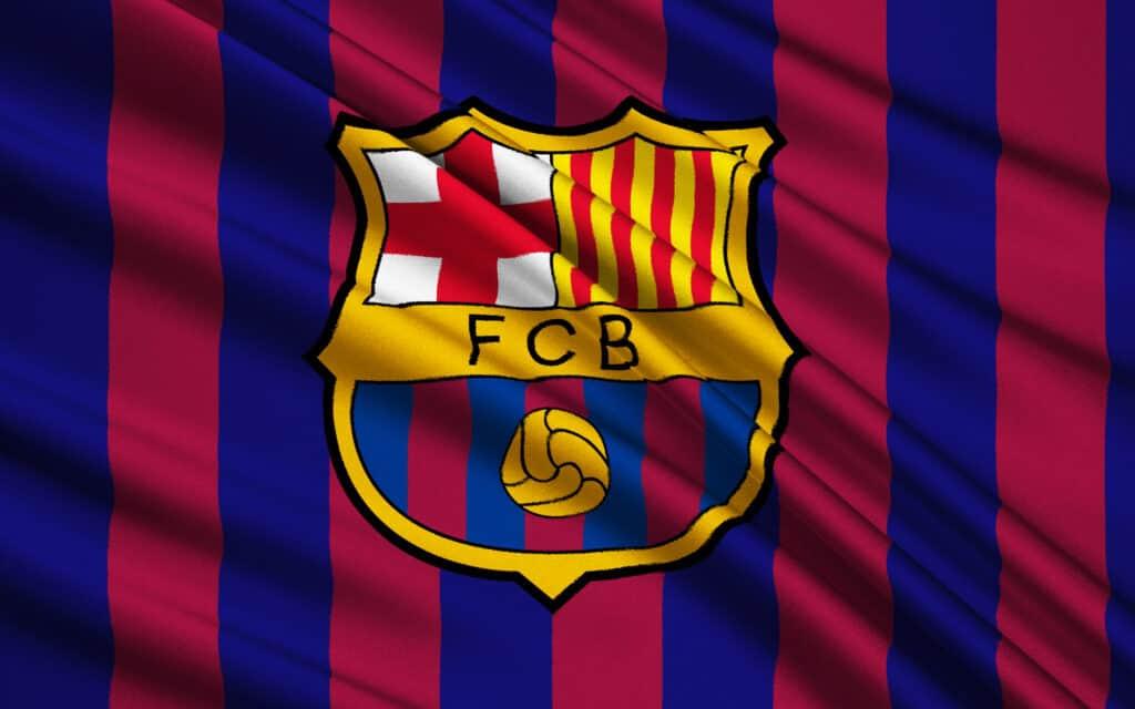 flag for fodboldklubben fc barcelona