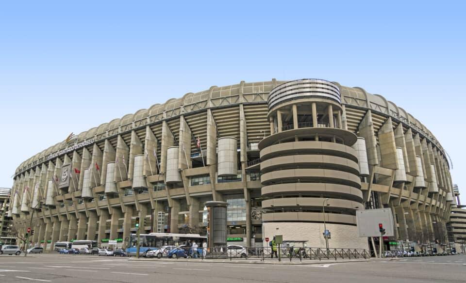 santiago bernabeu stadion i madrid hjemmebane for fodboldklubben real madrid
