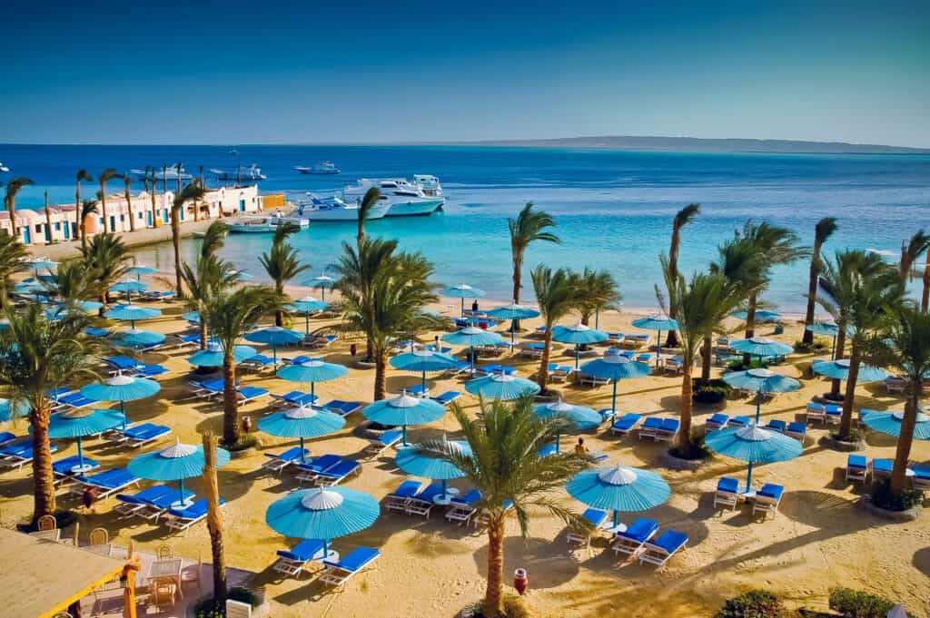 udsigt over stranden i egypten