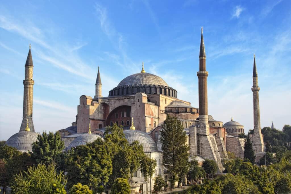 hagia sophia moskeen i istanbul i tyrkiet