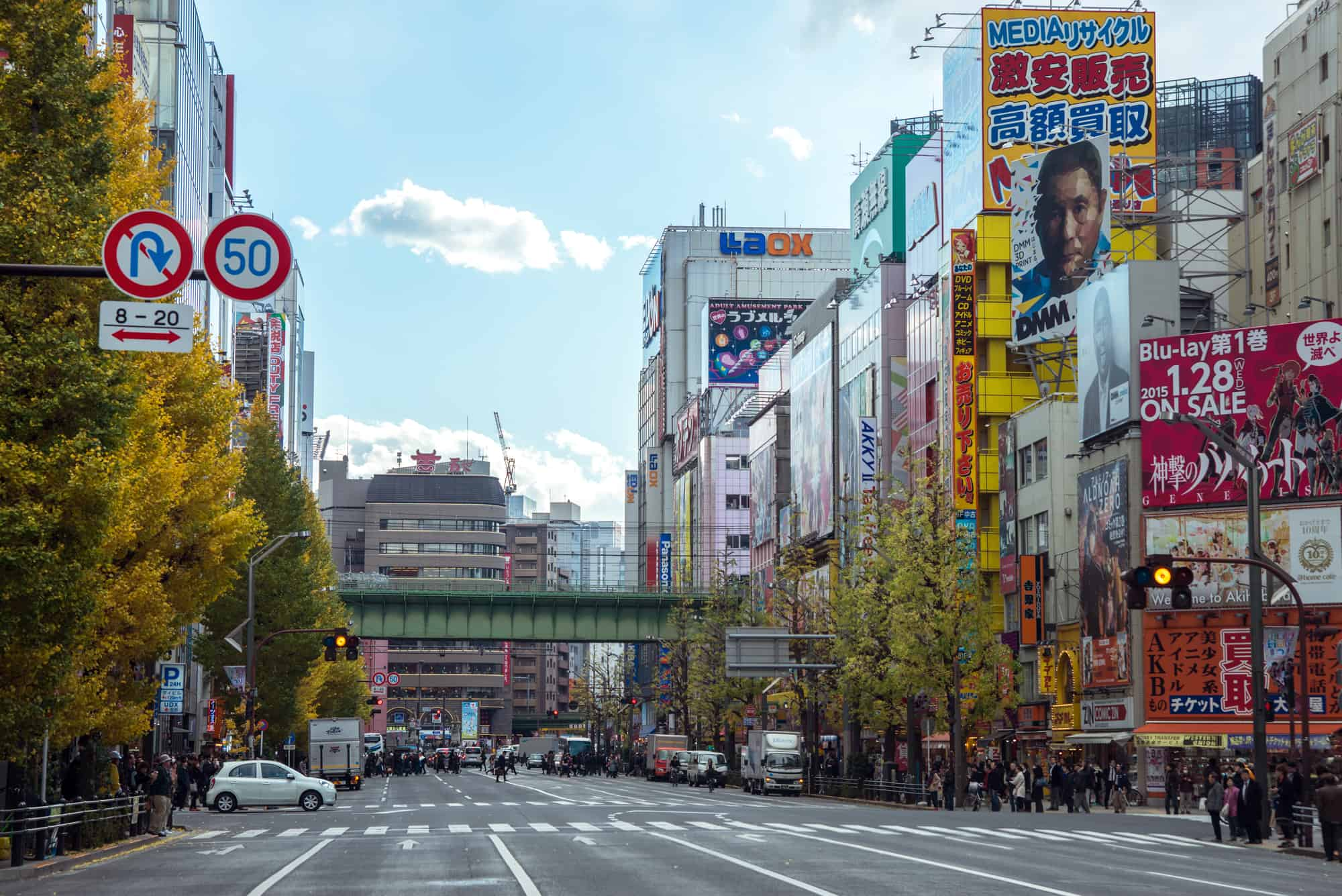harajuku kvarteret i tokyo japan