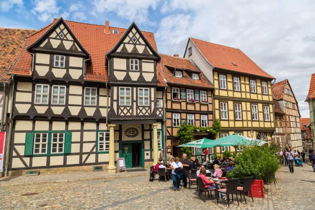 historiske huse i quedlinburg i tyskland