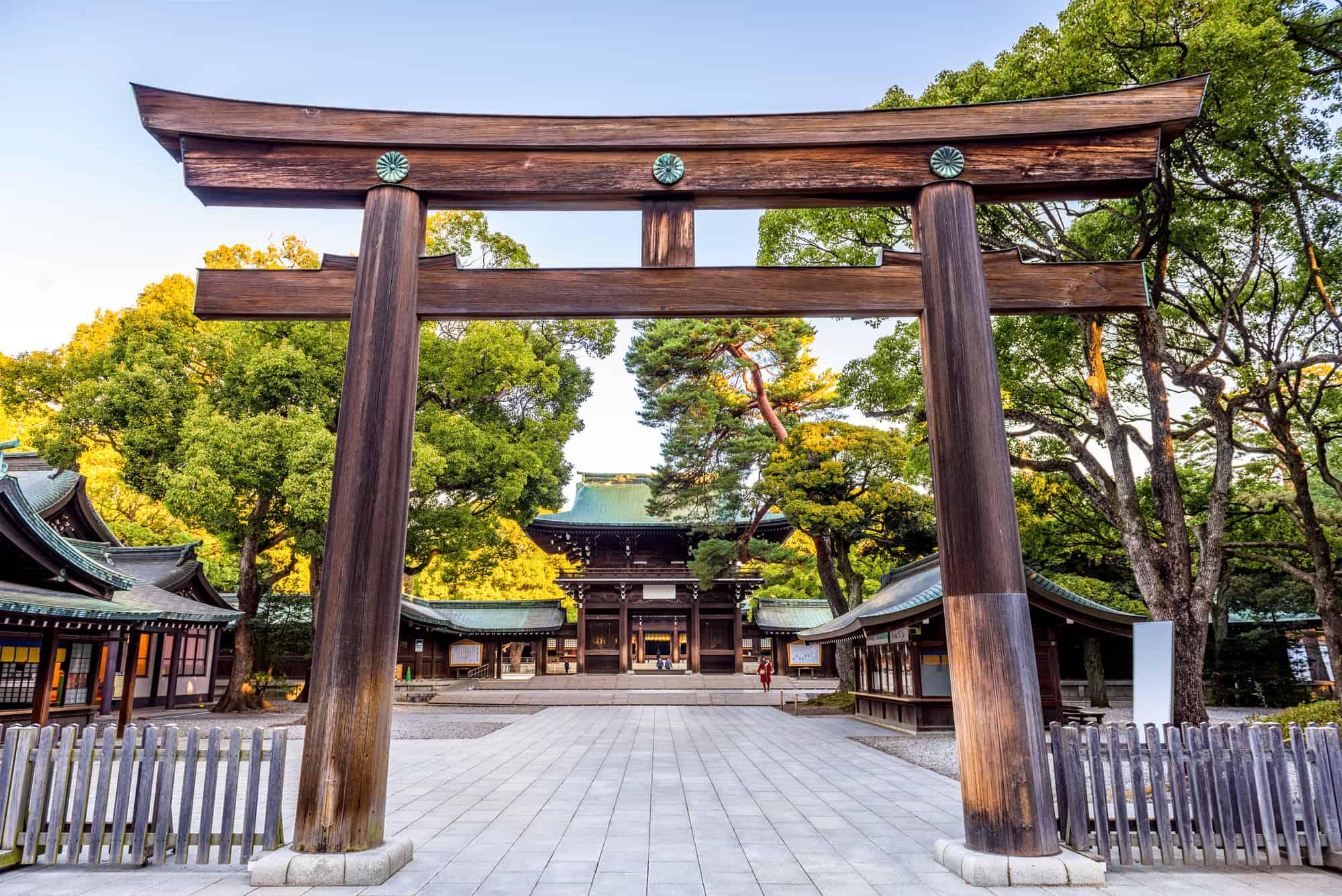 meiji helligdommen i tokyo japan