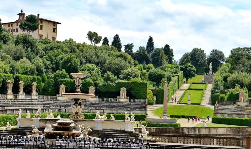 pitti paladset og boboli haverne i firenze italien