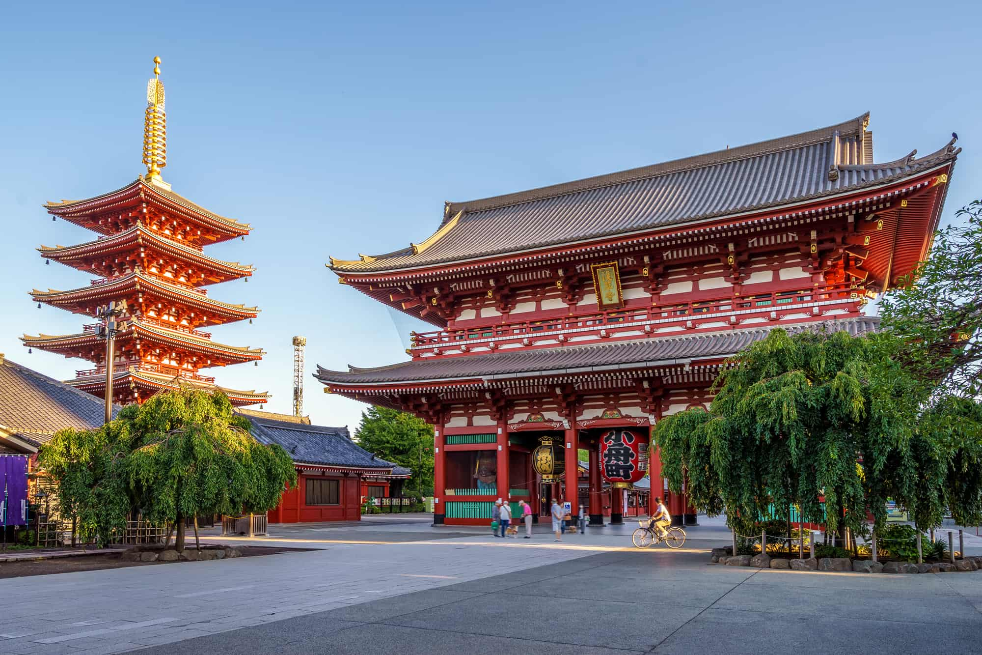 sensoji templet i den gamle bydel asakusa i tokyo