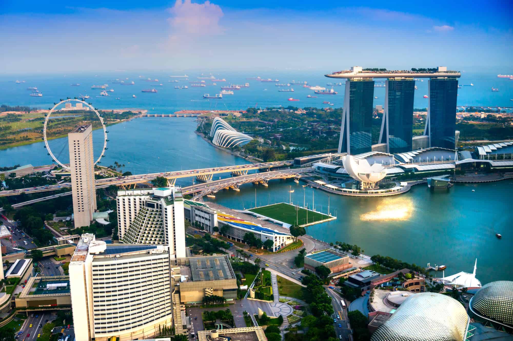 singapore floden og udsigt over singapore