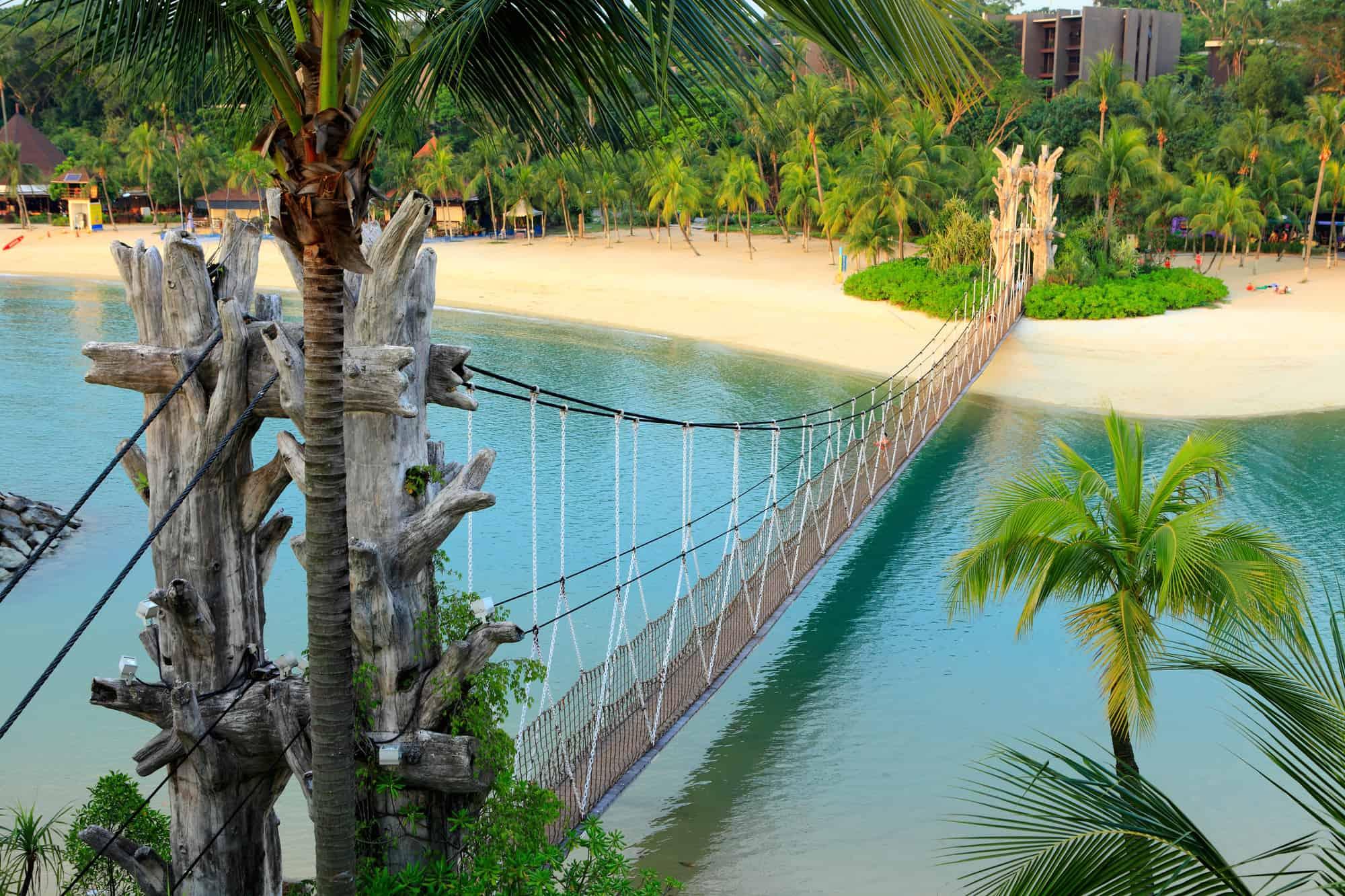 smukt landskab på sentosa island i singapore