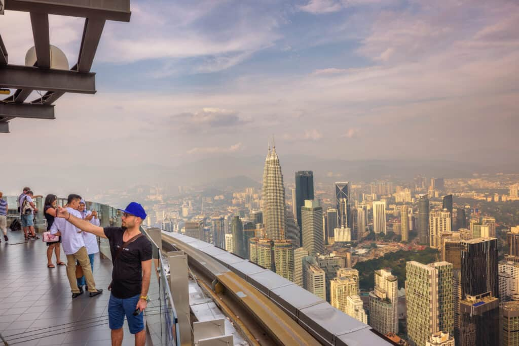 udsigt over kuala lumpur fra menara tårnet menara tower
